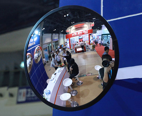 Anti theft indoor convex mirror for Miroir convexe concave